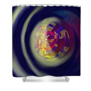 Reverberations Shower Curtain