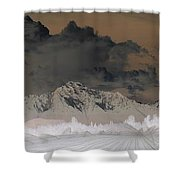 Reverse Landscape Shower Curtain