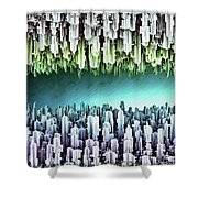 Reversible Futuristic Megalopolis City Shower Curtain