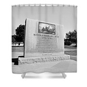Revolutionary War Memorial 1775 To 1783 Shower Curtain