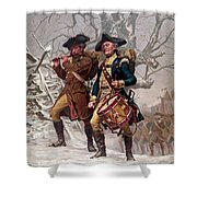 Revolutionary War Soldiers Marching Shower Curtain