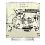 Revolving Fire Arm-1875 Shower Curtain