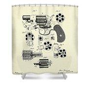 Revolving Fire Arm-1881 Shower Curtain