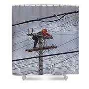 Rewiring A Power Pole Shower Curtain