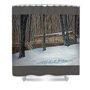 Rex Cabin Shower Curtain