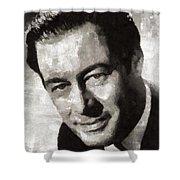 Rex Harrison, Vintage Hollywood Legend Shower Curtain