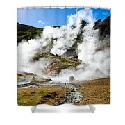 Reykjadalur Geothermal Area In Iceland Shower Curtain