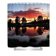 Reymann Lake Sunset - Yosemite Shower Curtain