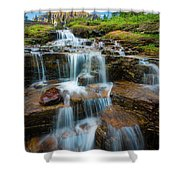 Reynolds Mountain Waterfall Shower Curtain