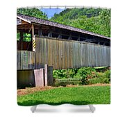Claycomb Covered Bridge Shower Curtain