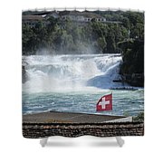 Rhine Falls In Switzerland Shower Curtain