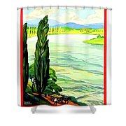 Rhine River, Alsace, France Shower Curtain