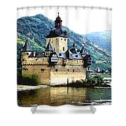 Rhine River Castle Shower Curtain
