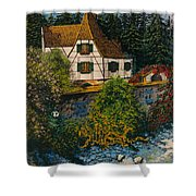 Rhine River Cottage Shower Curtain