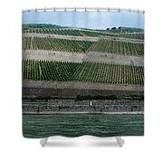 Rhine Valley Vineyards Panorama Shower Curtain