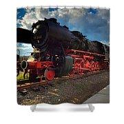Rhineland-palatinate Locomotive Shower Curtain