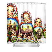 Rhinestones Of Moscow Shower Curtain
