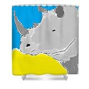 Rhino Drink. Shower Curtain