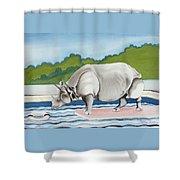 Rhino In La Shower Curtain