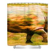 Rhinocerace Shower Curtain