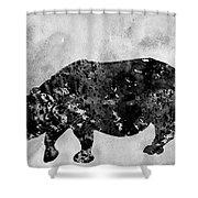 Rhinoceros-black Shower Curtain