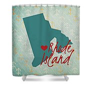 Rhode Island Anchors Shower Curtain