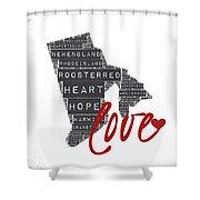 Rhode Island Love Shower Curtain