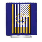 Rhode Island State Flag Graphic Usa Styling Shower Curtain