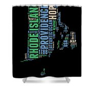 Rhode Island Word Cloud 2 Shower Curtain