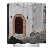 Rhodes Greece Shower Curtain