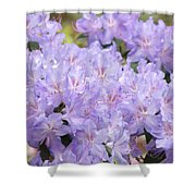 Rhododendron Floral Flowers Lavender Purple Prints Baslee Shower Curtain