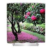 Rhododendrons Blooming Villa Carlotta Italy Shower Curtain