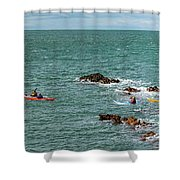 Rhoscolyn Rock Panorama Shower Curtain