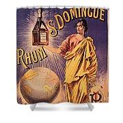 Rhum - Bottle - Earth - Map - Poster - Vintage - Wall Art - Art Print  - Girl  Shower Curtain