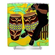 Rhythm Of The Drums Shower Curtain