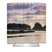 Rialto Beach Sunset On The Pacific Coast In Washington Shower Curtain