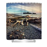 Rialto Beach Washington Shower Curtain