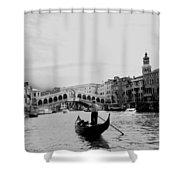 Rialto Bridge In Venice  Shower Curtain