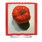 Ribbed Heirloom Tomato Shower Curtain