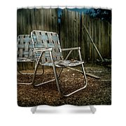 Ribbon Chairs Shower Curtain