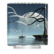 Ribbon Island Shower Curtain
