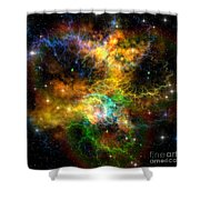 Ribbon Nebula Shower Curtain