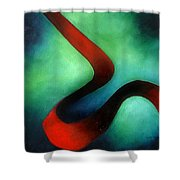 Ribbon Of Time Shower Curtain