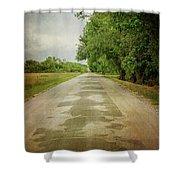 Ribbon Road - Sidewalk Highway Shower Curtain