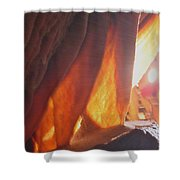 Ribbons - Cave Shower Curtain