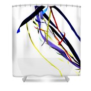 Ribbons Five Shower Curtain