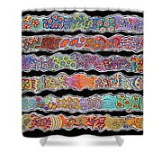 Ribbons Of Joy Shower Curtain