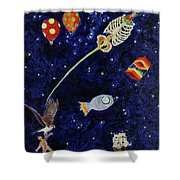 Ribcage To The Stars Shower Curtain