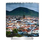 Ribeira Grande At Nightfall Shower Curtain