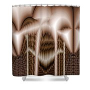 Ribs 3 Shower Curtain